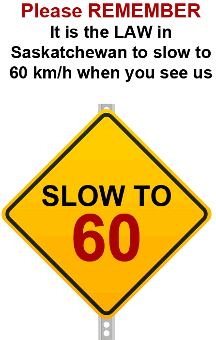 Slow to 60Km when passing emergency vehicles