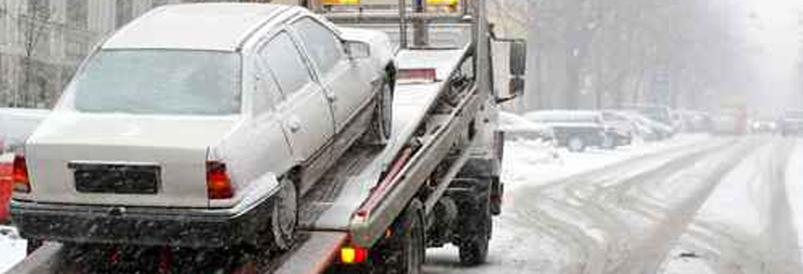 Vehicle Towing in Snowy Conditions - Touchdown Towing and Storage